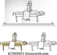 Chiropractor Aligning Spine