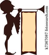 Court Trumpeter Illustration