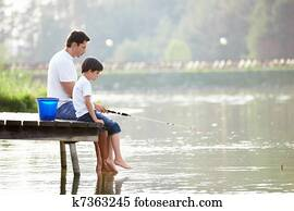 Family fishing