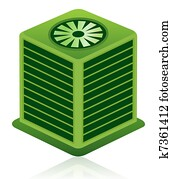 Green Air Conditioning Unit Icon