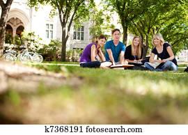 Happy Students on Campus