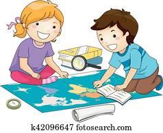 Kids Geography Study Map