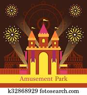 Castle, Amusement Park, Carnival, Fun Fair,