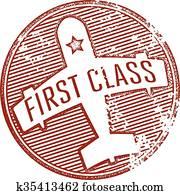 erste klasse, reise, briefmarke