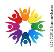 Logo Teamwork business card