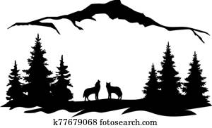 Mountains Wolves
