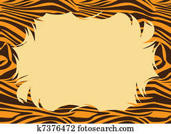 Tiger Fur Print Border
