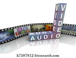 Audio video and film reel