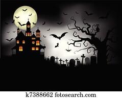 gespenstisch, halloween, hintergrund