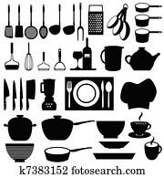 küchenutensilien, und, werkzeuge