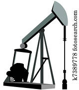 Oil Derrick Clip Art or Logo