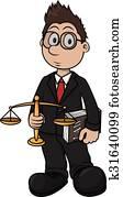 Print Lawyer cartoon illustration