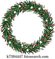 Sketchy Christmas wreath