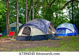 Camping Tents at Campground