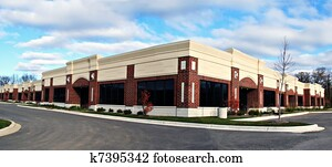 small business building panorama view