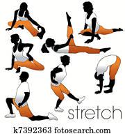 Stretch Aerobics Silhouettes Set