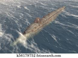 Submarine from the American Civil War