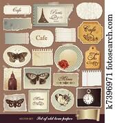 Vector set vintage design elements