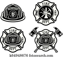 Fire Department Cross and Helmet Designs