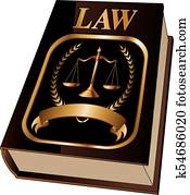 Law Book with Seal