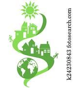 natural community eco background