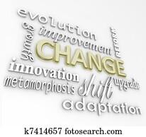 Change 3D Words Evolve Improve Grow for Success