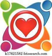 Charity people community logo