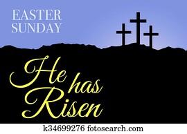 Easter sunday holy week sunrise