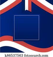 france flag with frame of happy bastille day vector design