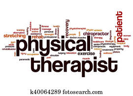 Physical therapist word cloud