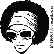 woman afro hair