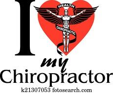 ich, liebe, mein, chiropraktiker