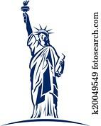 statue freiheit, bild, logo