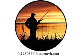 illustration of the fisherman