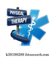 physical therapy medical symbol isolated