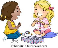 Kids Girls Bead Accessories