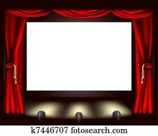 kino, schirm