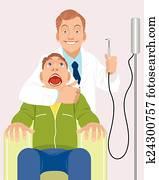zahnarzt, mit, patient