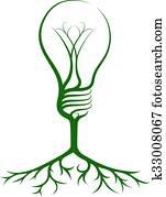 Idea light bulb tree