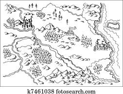 Map of Fantasy Land grunge