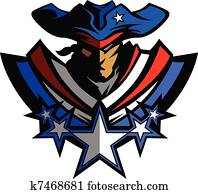 Patriot Mascot with Stars and Hat G