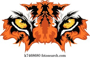 Tiger Eyes Mascot Graphic