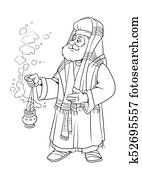 Chrismas story. The The Priest Zacharias.