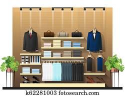 Interior scene of men clothing store 2