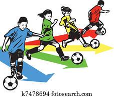 jungendlicher, fussball, bohrmaschiene