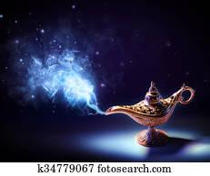 Lamp Of Wishes - Magic Smoke Coming