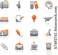 Office & Business Icons / Graphite