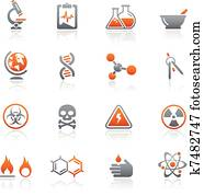 Science Icons / Graphite Series