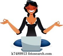 Zen business woman