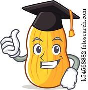 Dessin anim butternut courge clipart k34656880 fotosearch - Courge dessin ...